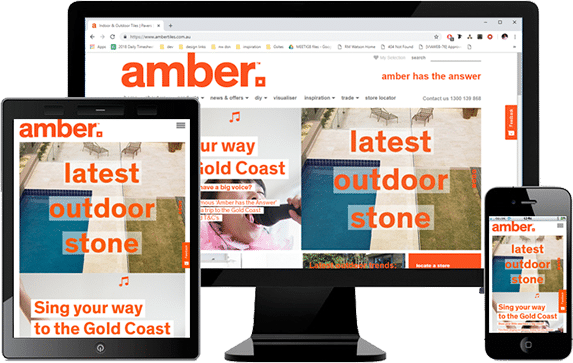 Amber Tiles with Drupal CMS