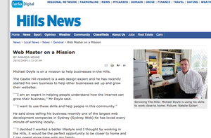 Hills News: Web Master On a Mission!