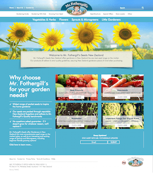 New Mr. Fothergills Magento CMS Website by TWMG