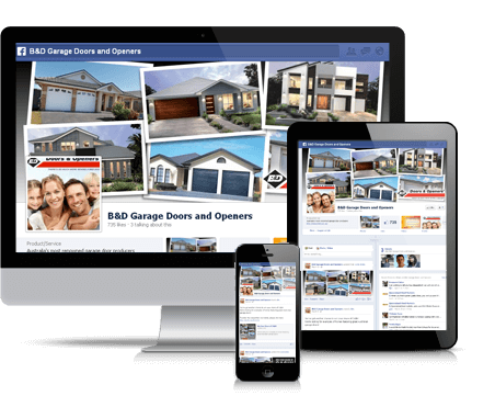 B&D Doors website design and development, facebook marketing and search engine optimisation by digital agency Sydney, TWMG.