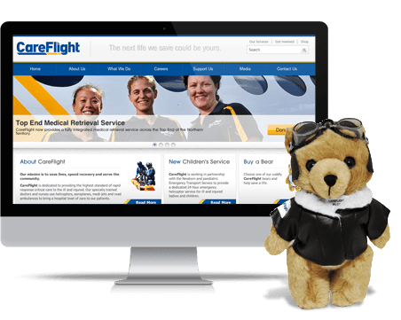 CareFlight website design and development - informational website by digital agency Sydney, TWMG.