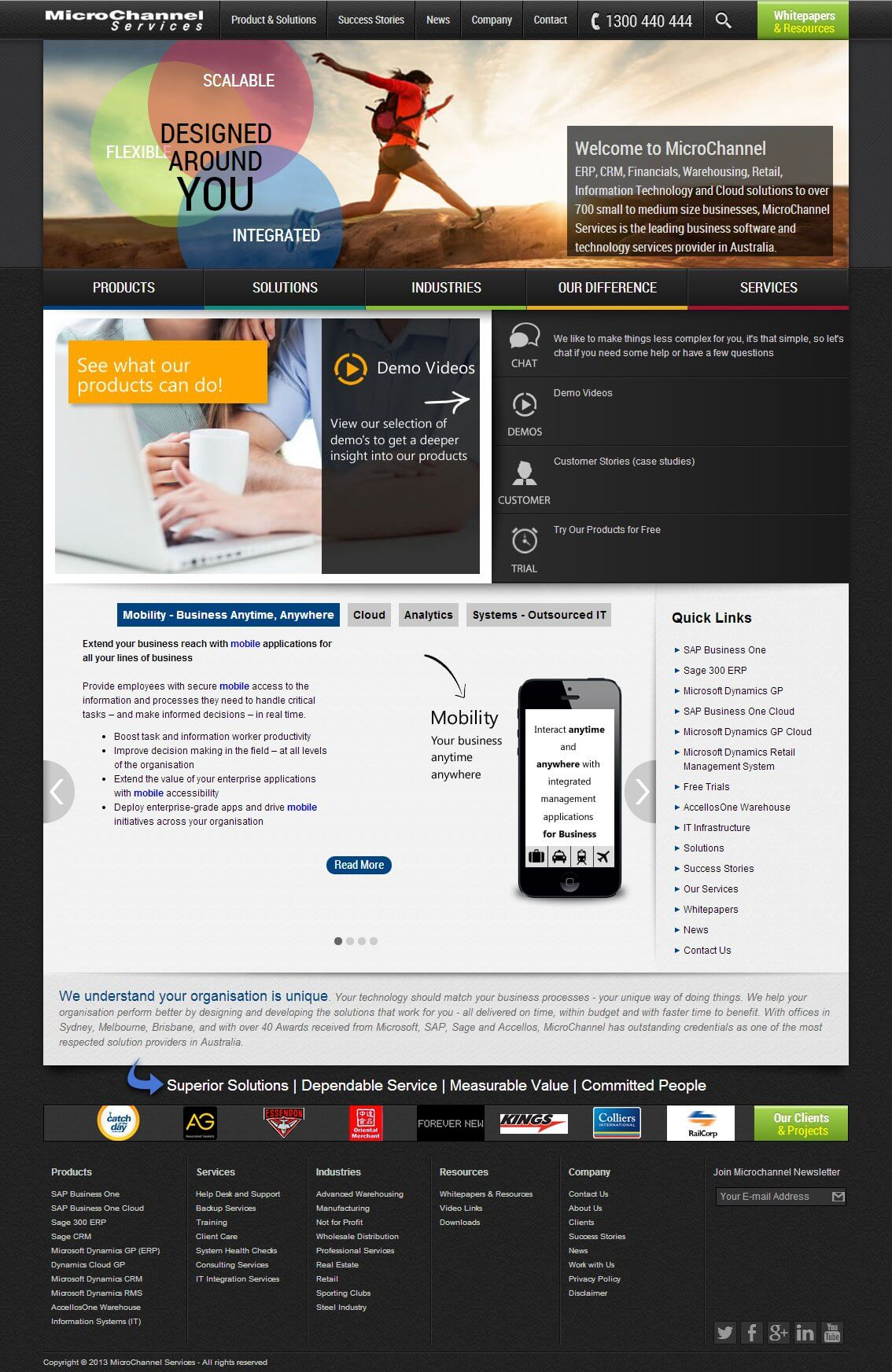 Micro channel Website Design and Development
