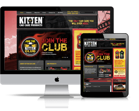 Kitten Car Care website design and development, facebook marketing by digital agency Sydney, TWMG.