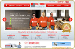 Oxford Bathroom Small Business Website Design