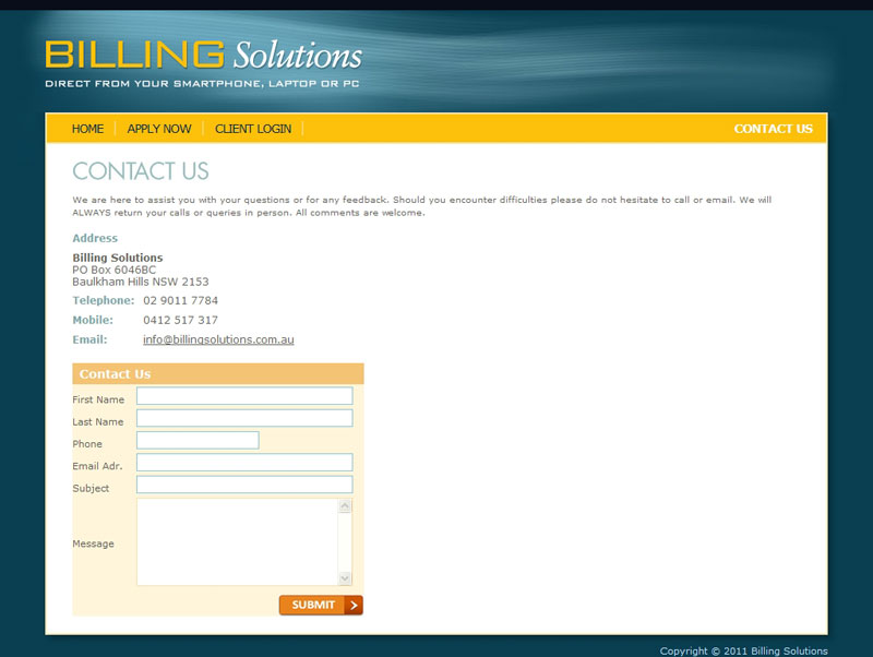 Billing Solutions Contact