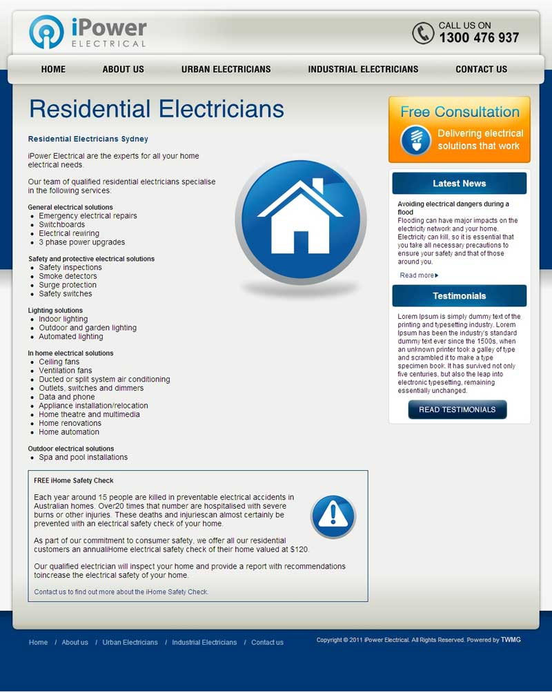 iPower Electrical Residential Electricians