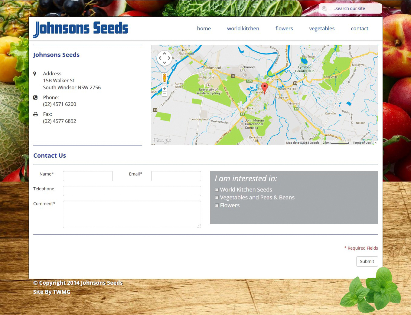 Johnsons Seeds- Online Product Catalogue Website - Contact Us