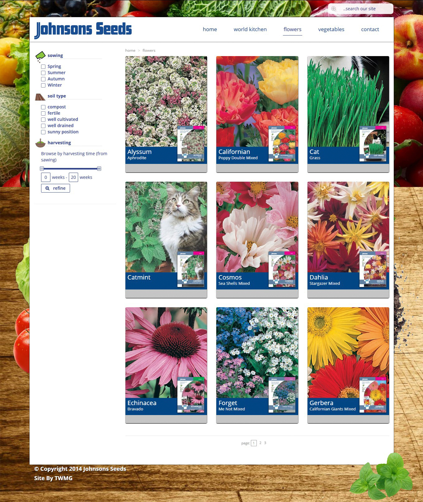 Johnsons Seeds- Online Product Catalogue Website - Flowers