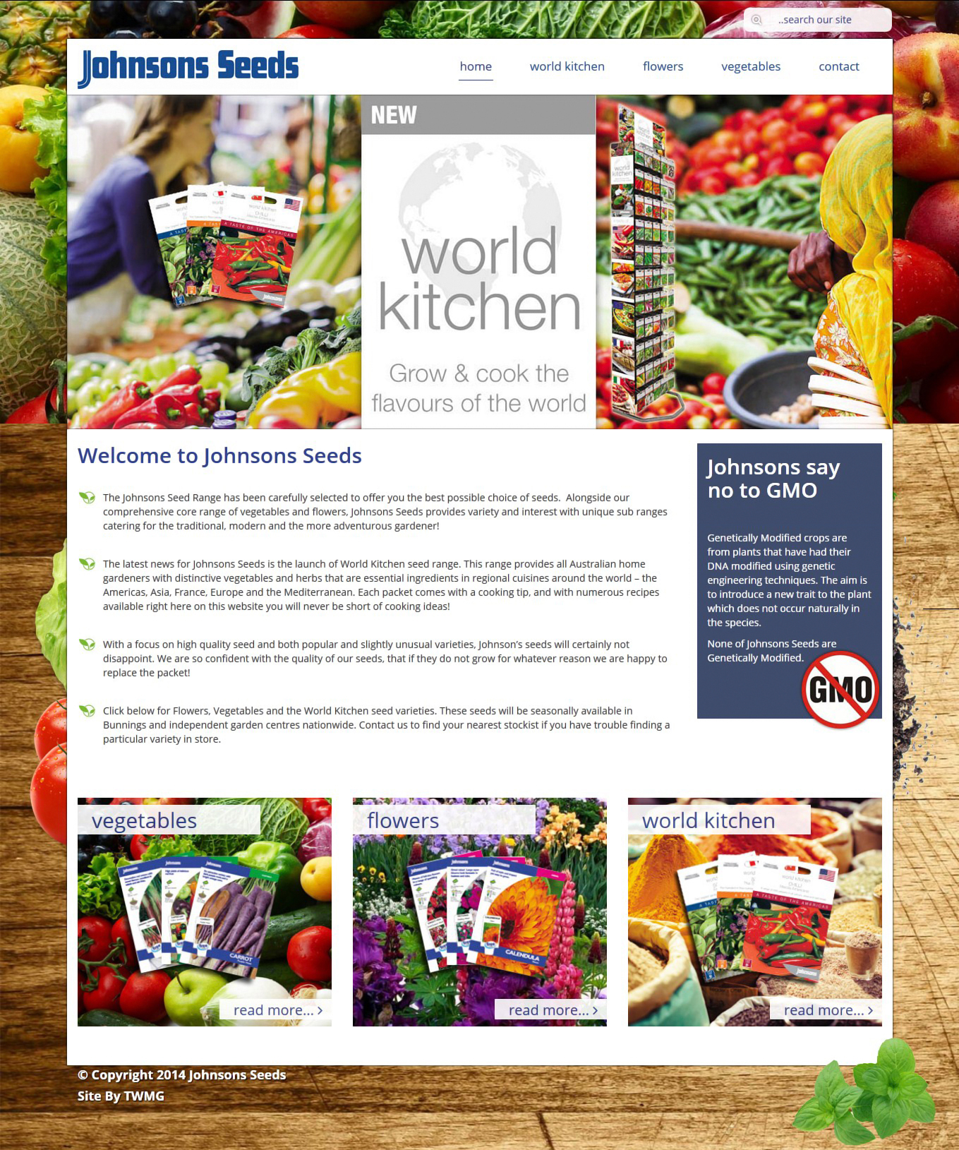 Johnsons Seeds - Online Product Catalogue Website - Home