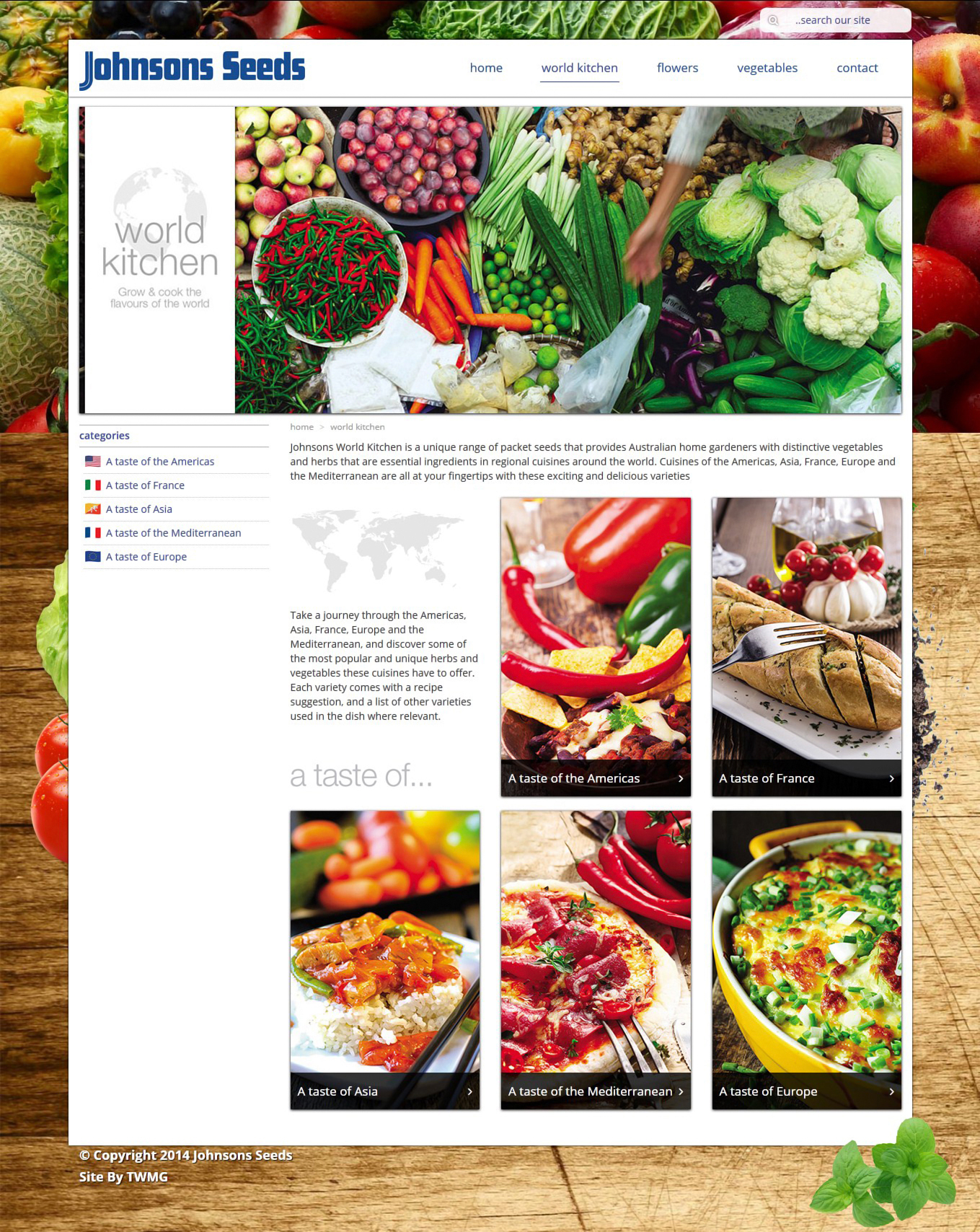 Johnsons Seeds- Online Product Catalogue Website - World Kitchen