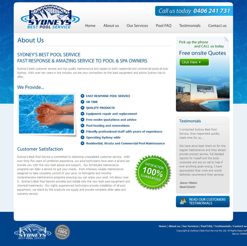 Sydney Best Pool Service About Us