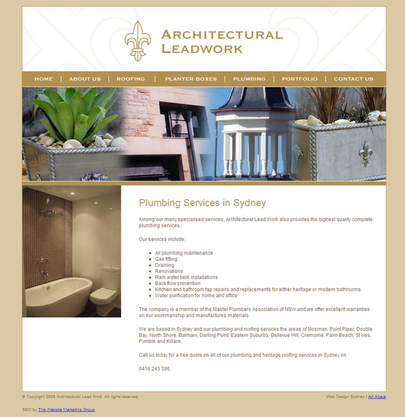 Architectural Leadwork Plumber