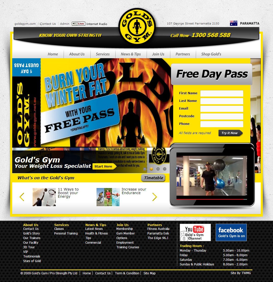 Check out Gold Gym Home to know how our web developers and web design Sydney team to help your online marketing, SEO, SEM, social marketing and web development.