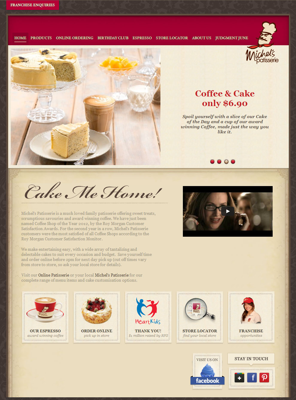 Check out Michel Patisserie Home to know how our web developers and web design Sydney team to help your online marketing, SEO, SEM, social marketing and web development.