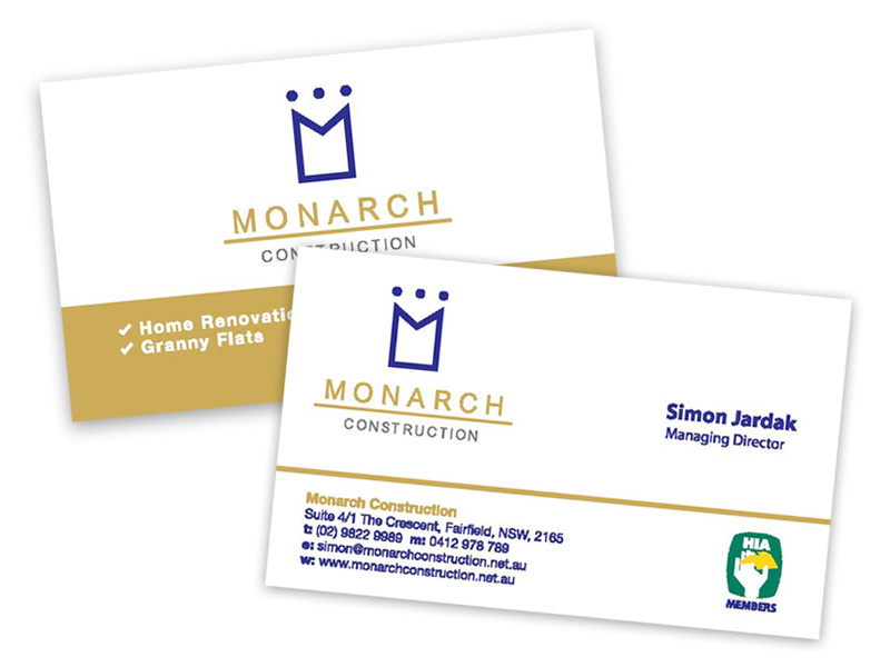Monarch Printed Business Cards