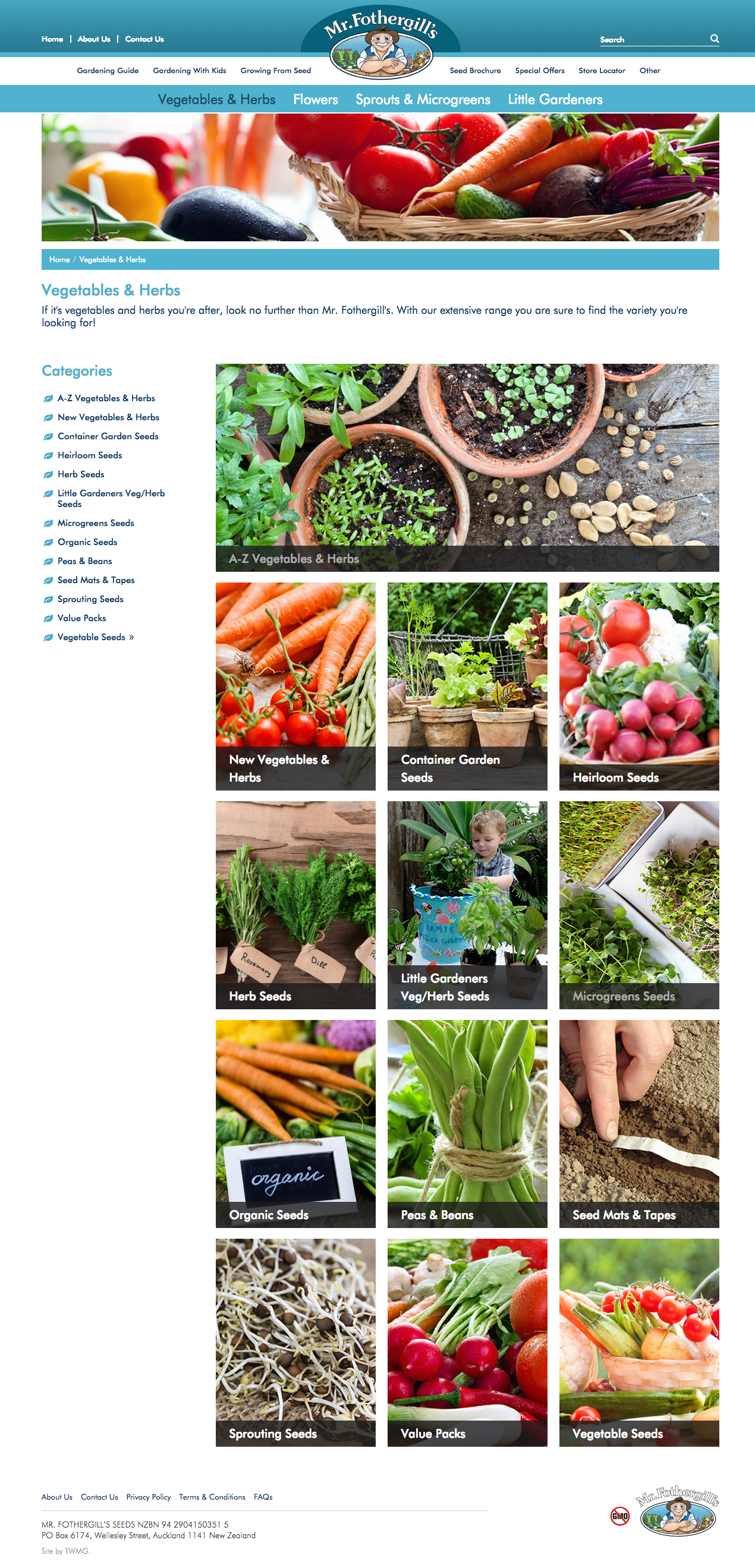 Check out New Mr. Fothergills NZ Website - Vegetables and Herbs to know how our web developers and web design Sydney team to help your online marketing, SEO, SEM, social marketing and web development.