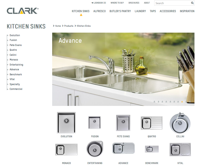 Check out Caroma Clark Kitchen Sinks to know how our web developers and web design Sydney team to help your online marketing, SEO, SEM, social marketing and web development.