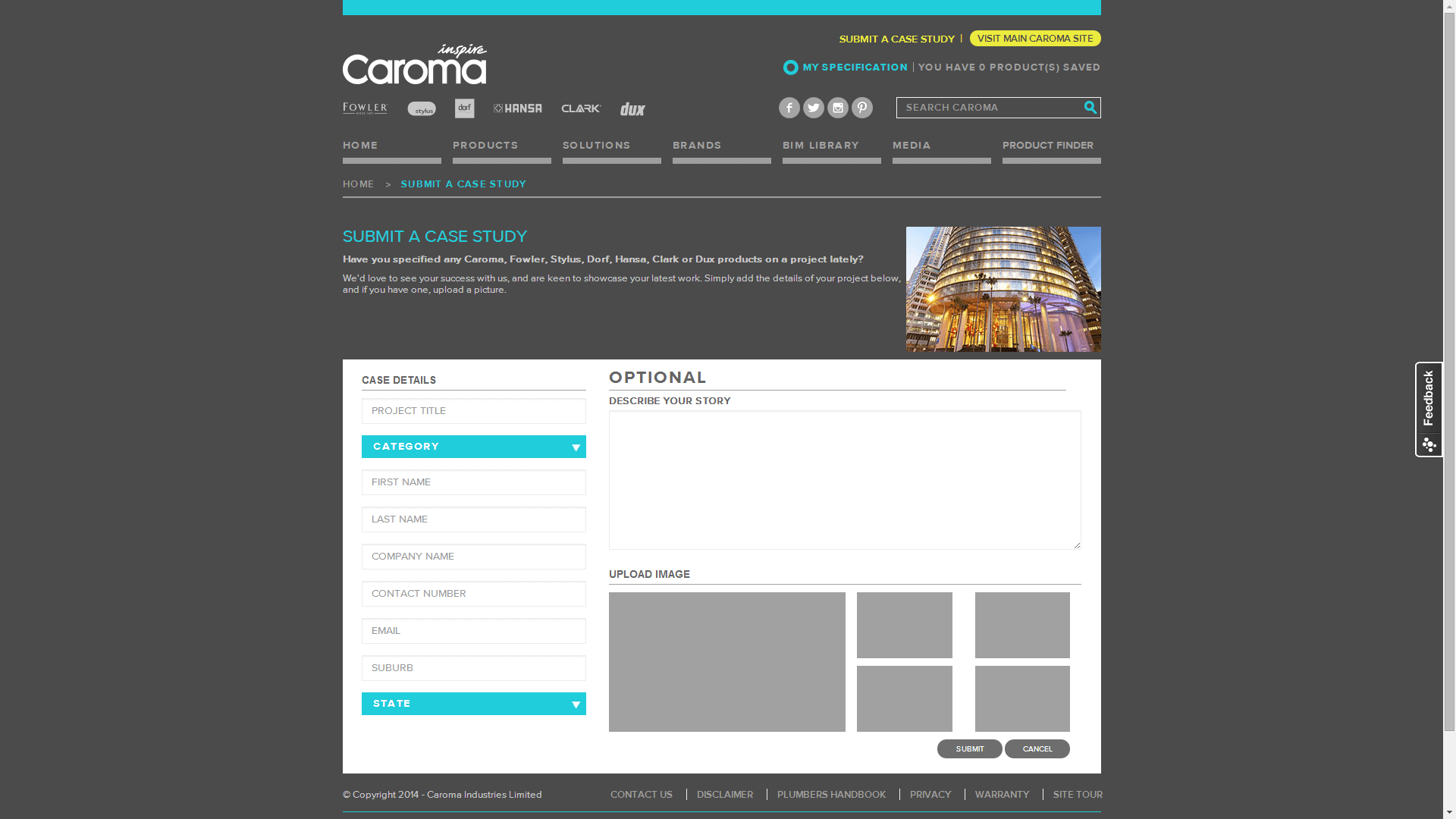 Check out Caroma Industrial Submit a Case Study to know how our web developers and web design Sydney team to help your online marketing, SEO, SEM, social marketing and web development.