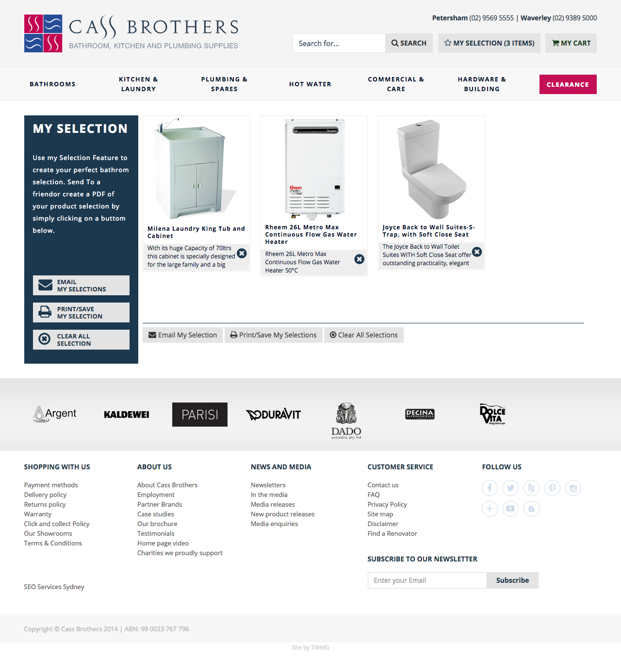 Check out Cass Brothers - eCommerce Store - My Selection to know how our web developers and web design Sydney team to help your online marketing, SEO, SEM, social marketing and web development.