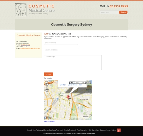Check out Cosmetic Medical Centre Website Development Agency Sydney - Contact to know how our web developers and web design Sydney team to help your online marketing, SEO, SEM, social marketing and web development.