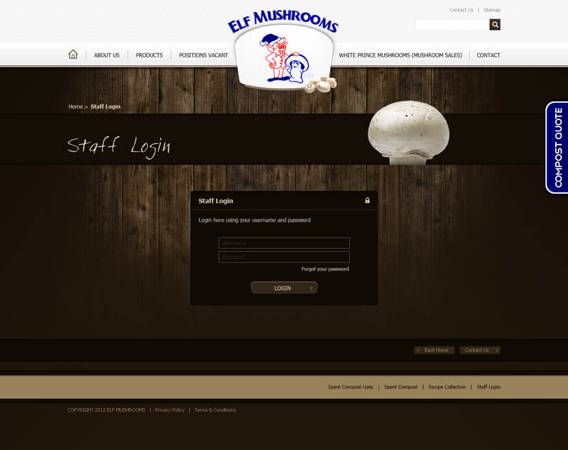 Check out Elf Mushrooms Staff Login to know how our web developers and web design Sydney team to help your online marketing, SEO, SEM, social marketing and web development.