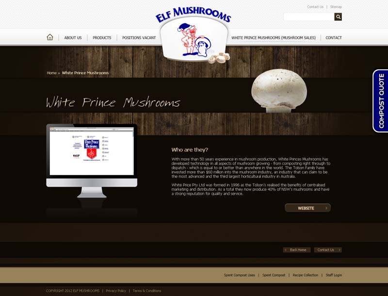 Check out Elf Mushrooms White Prince Mushroom to know how our web developers and web design Sydney team to help your online marketing, SEO, SEM, social marketing and web development.