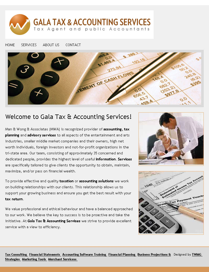 Gala Tax Accounting Services Home