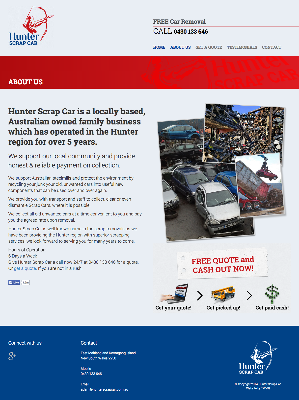 Check out Hunter Scrap Car - Website Design - About Us to know how our web developers and web design Sydney team to help your online marketing, SEO, SEM, social marketing and web development.