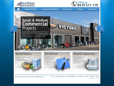 Northwest Glass & Aluminium Website Development Agency - Home Page