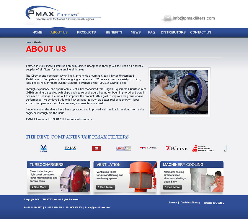 Check out PMAX Filters About Us to know how our web developers and web design Sydney team to help your online marketing, SEO, SEM, social marketing and web development.
