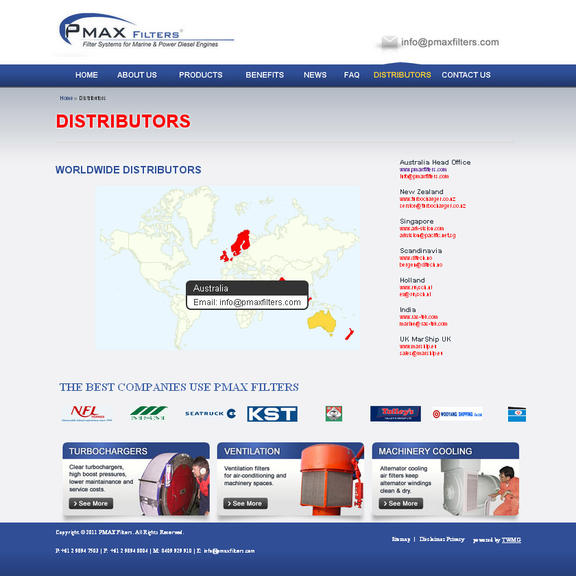 Check out PMAX Filters Distributors to know how our web developers and web design Sydney team to help your online marketing, SEO, SEM, social marketing and web development.