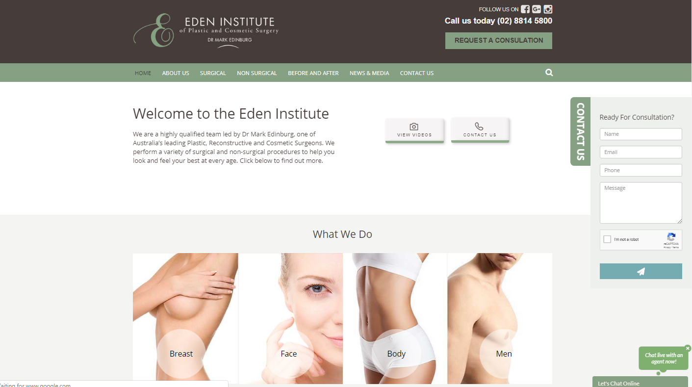 eden institute cosmetic surgery sydney