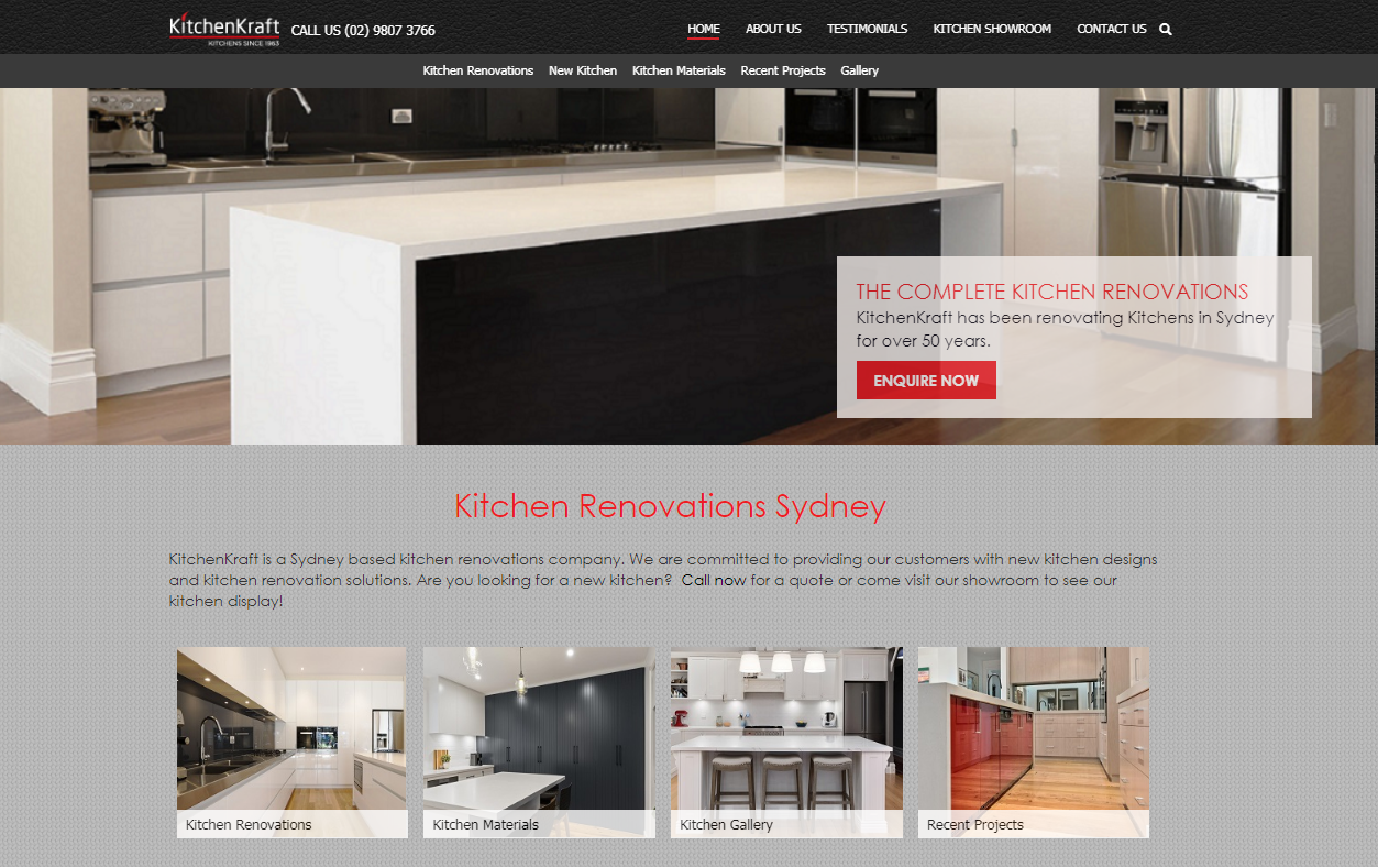 KitchenKraft Kitchen Renovations Sydney SEO TWMG