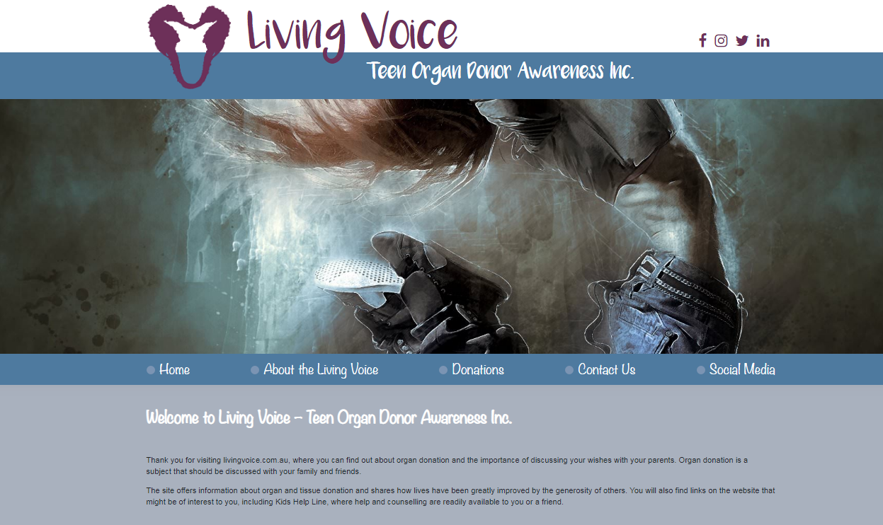 TWMG Living Voice web development client